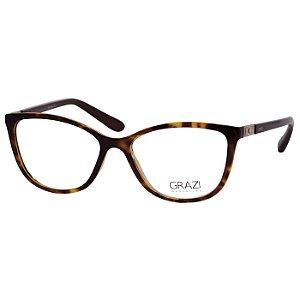 Óculos Grazi Massafera GZ3029B Marrom Tartaruga Translúcido Brilho