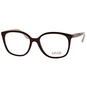 Óculos Grazi Massafera GZ3046 Feminino Marrom e Bege Brilho