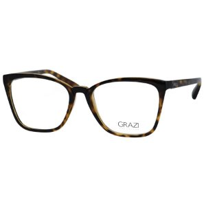 Óculos de Grau Feminino Grazi GZ3054 Marrom Tartaruga Brilho