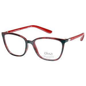 0abfe0b343bb2 Armação de Oculos Feminina Grazi GZ3035B Vermelho Tartaruga com Cristal  Swarovski