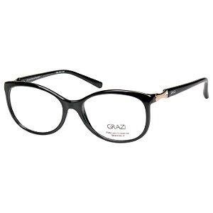 Óculos de Grau Feminino Grazi GZ3023B Preto Brilho Médio