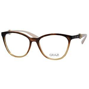 Óculos Grazi Massafera GZ3047 Marrom Demi Gradiente com Bege