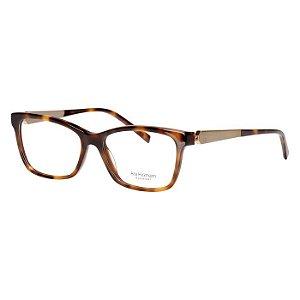 Óculos de Grau Ana Hickmann Marrom Demi Brilho AH6260 Acetato Médio
