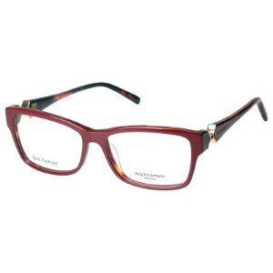 Óculos de Grau Feminino Ana Hickmann AH6202 Bordô Brilho Médio