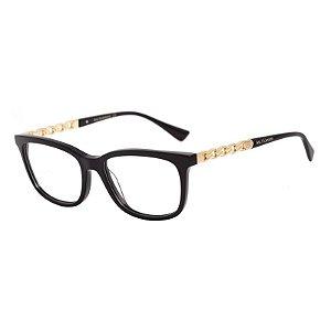 Óculos de Grau Feminino Ana Hickmann Acetato Preto Brilho Médio