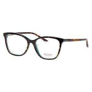 Óculos de Grau Acetato Ana Hickmann AH6280 Marrom Demi e Verde Brilho