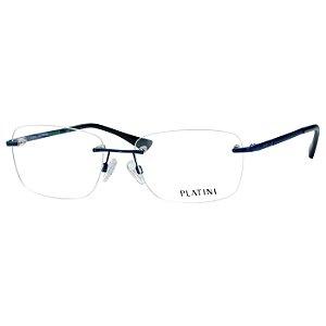 Óculos de Grau Parafusado Platini P91170 Azul Brilho