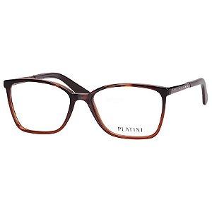 Óculos de Grau Platini Feminino P93146 Marrom Tartaruga Médio