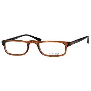 Óculos de Leitura Marrom Translúcido Platini P93138