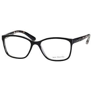 Óculos de Grau Jean Monnier J83175 Feminino Preto Brilho Pequeno