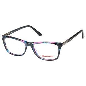 Óculos de Grau Carmim CRM41157 Preto Mesclado com Rosa e Azul Brilho