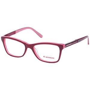 Óculos de Grau Carmim Bordô com Rosa CRM411123 Acetato Médio