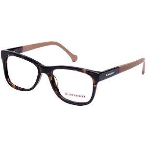 Óculos de Grau Carmim CRM41145 Demi Brilho com Marrom Claro Acetato Médio