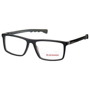 Oculos de Grau Carmim CRM41181 Preto Fosco com Cinza Masculino