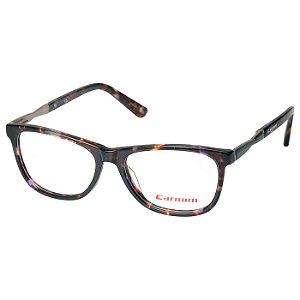 Oculos de Grau Feminino Carmim CRM41129 Marrom Tartaruga Brilho Médio