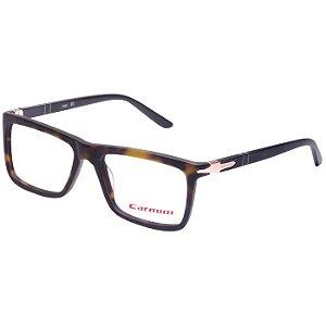 Óculos de Grau Carmim CRM41134 Marrom Demi Fosco com Preto Acetato Médio