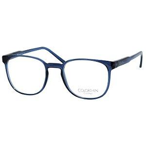 Óculos de Grau Retrô Calvin Klein Azul Translúcido Brilho CK5993 Médio