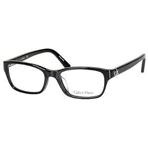 Óculos de Grau Pequeno Preto Brilho Calvin Klein CK5691 Feminino