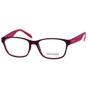 Armação de Óculos Feminino Calvin Klein CK5890 Bordô Fosco e Rosa