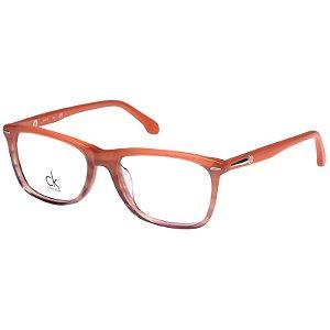 Óculos de Grau Calvin Klein Platinum CK5792 Laranja Brilho Acetato Médio