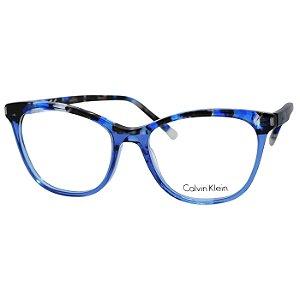 Armação de Grau Feminina Calvin Klein CK5975 Azul Translúcido com Preto e Marrom