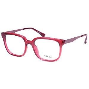 Óculos de Grau Calvin Klein Platinum CK5912 Acetato Vermelho Translúcido Feminino Médio