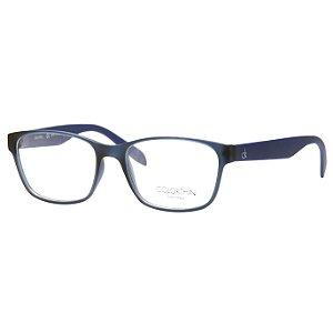 Óculos de Grau Calvin Klein CK5890 Azul Translúcido Fosco Acetato Médio