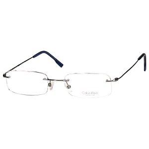 Oculos de Grau Calvin Klein Parafusado CK533 Cinza Metalizado Unisex