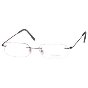 Óculos de Grau Calvin Klein Parafusado Cinza Metalizado Unisex CK533