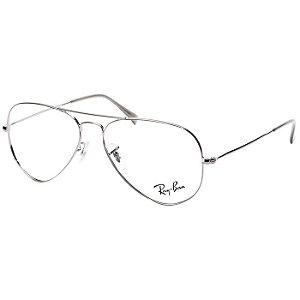 Armação Óculos de Grau Ray Ban Aviador Grafite RX6049 Metal Médio