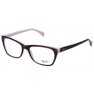 Óculos de Grau Feminino Ray Ban RX5298 Marrom Demi e Roxo Brilho