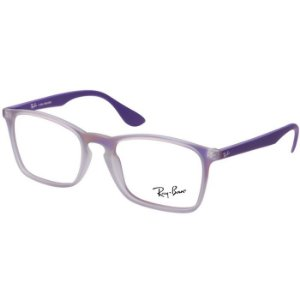 Óculos de Grau Feminino Ray Ban Chris RX7045 Lilás Translúcido