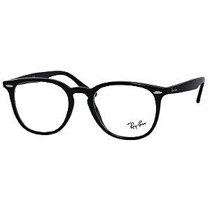 Óculos de Grau Ray Ban RX7159 Acetato Preto Brilho Médio