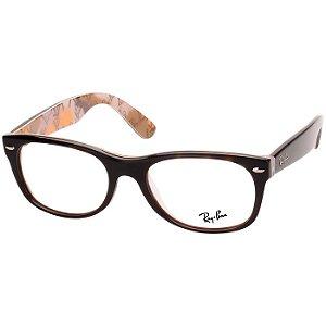 Óculos de Grau Pequeno Ray Ban RX5184 Marrom Demi com Estampa