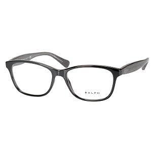 Oculos de Grau RA7083 Ralph Lauren Preto Brilho Feminino Médio