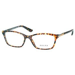 Armação para Oculos de Grau RA7044 Ralph Lauren Marrom Tartaruga Médio Feminino