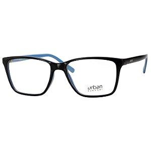 Armação de Grau Urban 5003 Preto com Azul Brilho