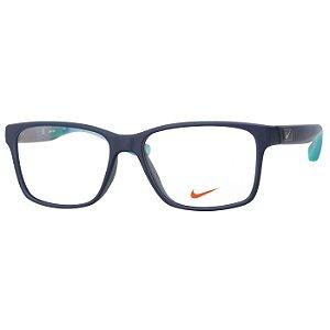 Óculos de Grau Esportivo Nike 7091 Azul Fosco com Verde Médio