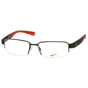 Óculos de Grau Nike 8165 Metal Bronze e Laranja Fosco Médio