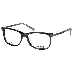 Óculos de Grau Mormaii M6024 Titânio Preto Brilho com Cinza Fosco