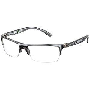 Óculos de Grau Mormaii Eclipse 2 Fumê Cristal com Prata Médio