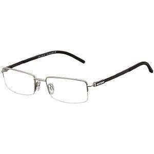 Óculos de Grau Titânio Mormaii MO1678 Prata com Carbono Médio