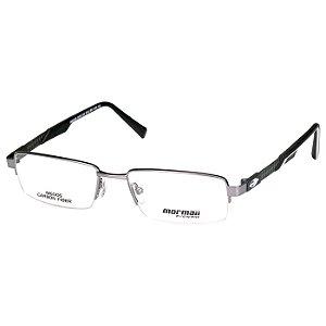 Óculos de Grau Mormaii Fibra de Carbono M6005 Metal Prata Fosco