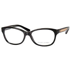 Armação para Oculos de Grau RL6155 Preto Brilho Ralph Lauren Feminino