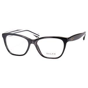 Óculos Ralph Lauren de Grau Feminino Preto Brilho Médio RA7077