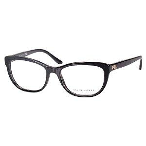 Oculos de Grau Ralph Lauren Preto Brilho Médio Feminino RL6170