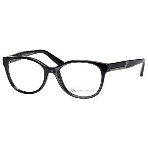 Oculos de Grau Feminino AX3032L Médio Armani Exchange Preto Brilho