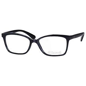 Armação de Óculos Feminino Tecnol TN3052 Médio Preto Brilho