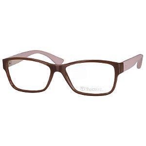Óculos de Grau Tecnol TN3041 Feminino Marrom e Bege Brilho