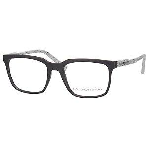 Armação de Óculos Armani Exchange AX3045 Preto Fosco com Cinza Médio
